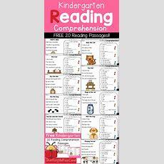 Kindergarten Reading Comprehension Passages Freebies!!  Teaching Biilfizzcend Products