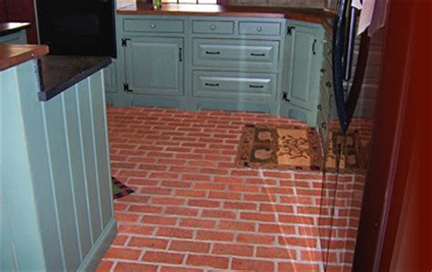 brick tile kitchen floor inglenook tile design traditional kitchen 4894