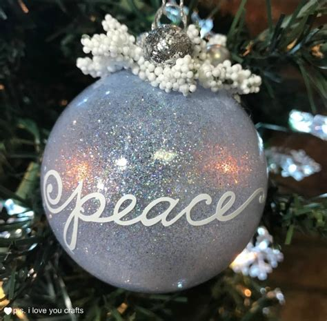 glitter christmas ball tree ornaments ps  love  crafts