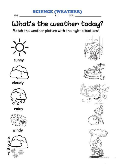 weather match english esl worksheets