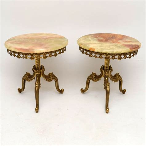 antique brass table ls pair of french brass onyx tables loveantiques com