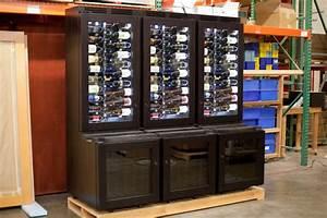 Custom refrigerated wine cabinet - Contemporary - Wine