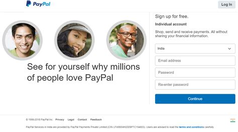 paypal sign up form how to sign up and verify a paypal account