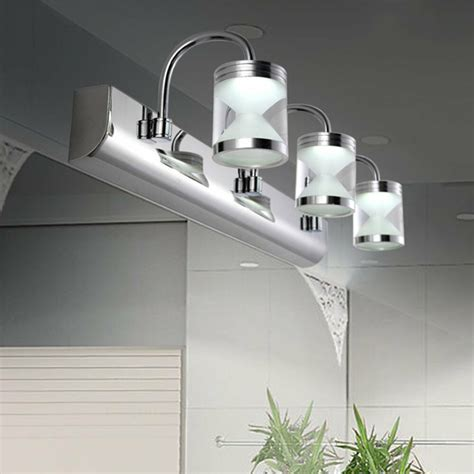 led acrylic bathroom front mirror lights toilet wall