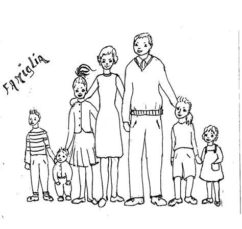 disegni da colorare bambini  famiglia
