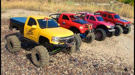 4 Scale Rc 4x4 Trucks In Action