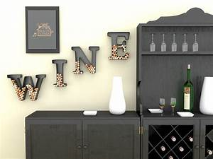 wine letter cork holder art wall decor metal all 4 With glass letters for wall