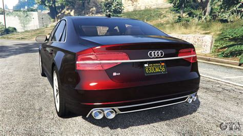 Audi S8 W12 2016 For Gta 5