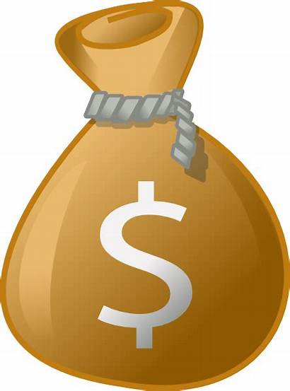 Money Bag Clip Clipart Sack Vector Cash