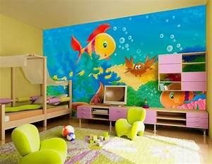 Kinderzimmer Wandgestaltung Ideen : wandgestaltung kinderzimmer ideen ~ Orissabook.com Haus und Dekorationen