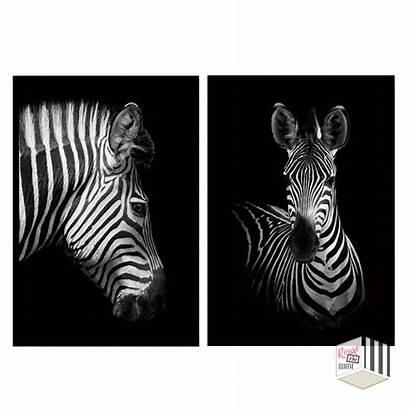 Zebra Nordic Canvas Artwork Painting Prints Rousetheroom