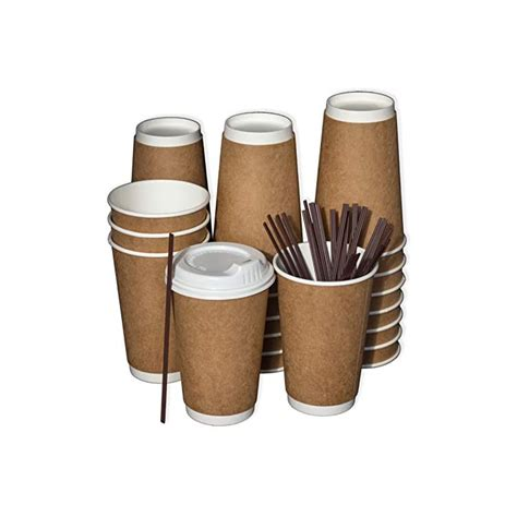 Recyclable paper cups, printed paper cups. Disposable Coffee Cups To Go with Lids, Stirrers, and ...