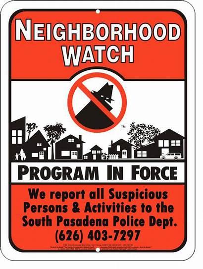 Neighborhood Crime Sign Prevention Signs Community Program