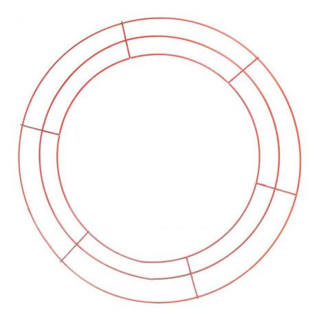 15 quot round wire wreath form red ke1034m9 craftoutlet com
