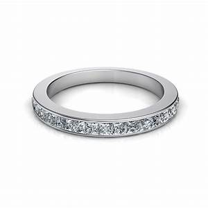 085 Ct 3mm Princess Cut Channel Set Diamond Wedding Band