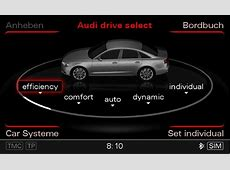 Audi drive select Audi Technology Portal