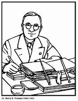 Pages President Coloring Presidents Printable Books Truman Harry American Sheets Biography Roosevelt Franklin Popular Facts War Assuming Politician 1884 Served sketch template
