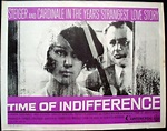 TIME OF INDIFFERENCE GLI INDIFFERENTI half sheet movie ...