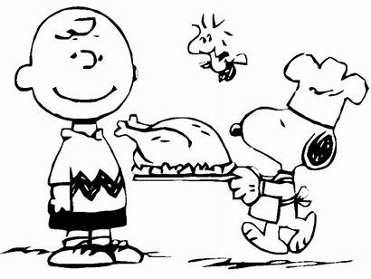 Charlie Thanksgiving Brown Coloring Snoopy Pages Printable