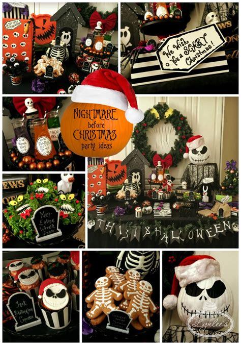 nightmare before ideas lynlees - Nightmare Before Christmas Party Ideas