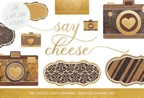 vintage style photography clipart set   dutch lady