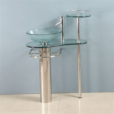 29 inch wall mounted single chrome metal pedestal bathroom