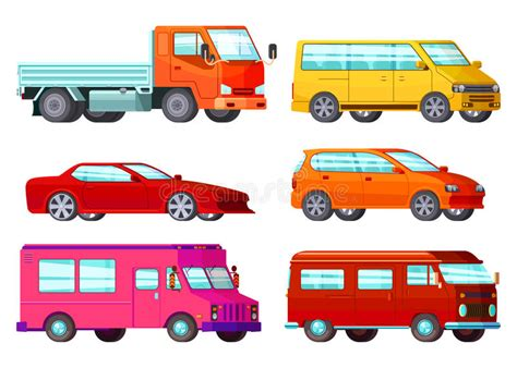 Orthogonal Car Set Stock Vector. Illustration Of Cabriolet