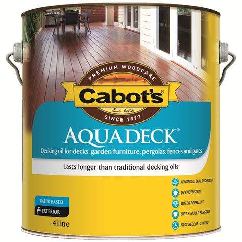 cabots deck stain bunnings cabot s aquadeck 4l jarrah exterior decking bunnings