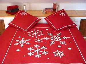 Taie D Oreiller 50x70 : taie d 39 oreiller flocon rouge 50x70 linge de maison ~ Teatrodelosmanantiales.com Idées de Décoration