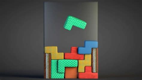 Video Real Life Tetris Game Played With Pillows