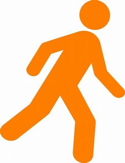 Walking Icon Clipart Person Clip Vector Clker