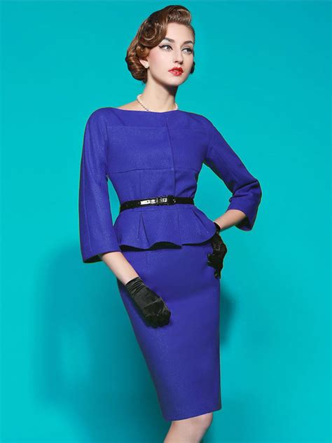 long sleeve peplum skirt suit  storenvy