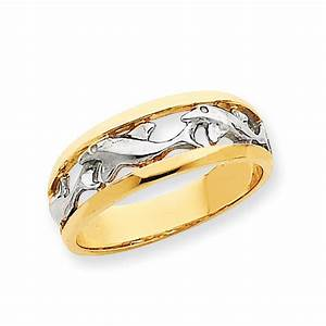 14k with rhodium dolphin ring salmajewelrycom for Dolphin wedding rings