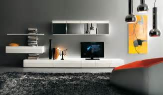 gestaltung wohnzimmerwand modern tv wall units