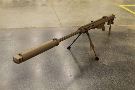 50 Bmg Suppressor by Barrett M107a1 With Suppressor Guns Guns Cool Guns