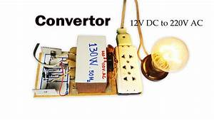 How To Create Easy Converter Circuit Dc 12v To 110v Ac And