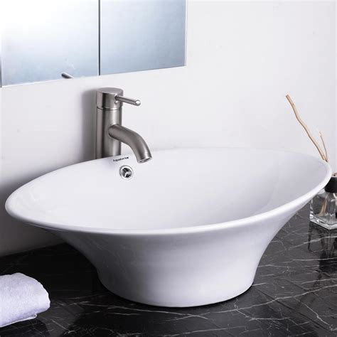 vessel sink with overflow aquaterior bathroom porcelain ceramic vessel sink vanity