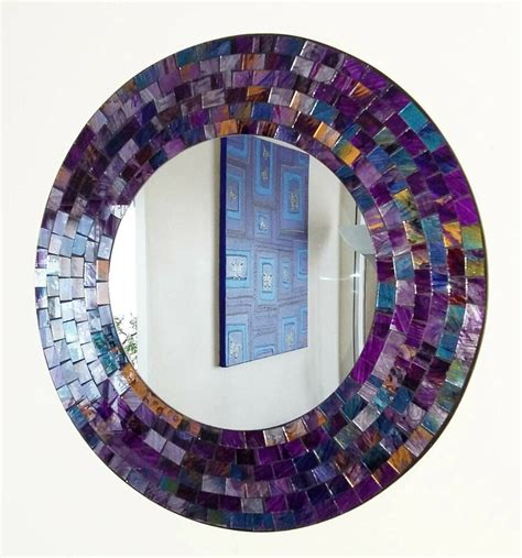 Spiegel Mosaik Wand by Purple Pink Mosaic Wall Mirror 40cm Made In