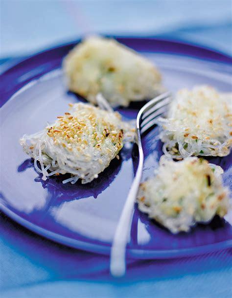 cuisiner le soja frais bouchées de vermicelles de soja au fromage frais bien