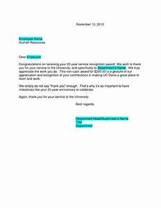 Sample Letter Of Commendation For Employee Recognition Congratulations Letter Sample Retirement