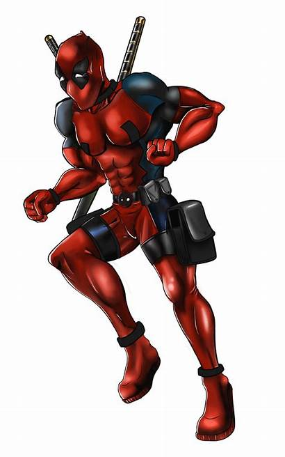 Deadpool Cartoon Comics Desenho Superhero Character Render