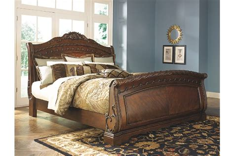 north shore queen sleigh bed ashley furniture homestore