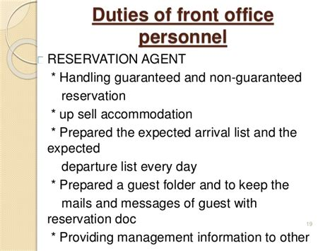 front desk security responsibilities introduction to front office
