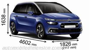 C4 Picasso Dimension : dimensions of citro n cars showing length width and height ~ Medecine-chirurgie-esthetiques.com Avis de Voitures