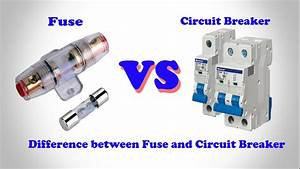 Fuse Vs Circuit Breaker  U2502 Difference Between Fuse And