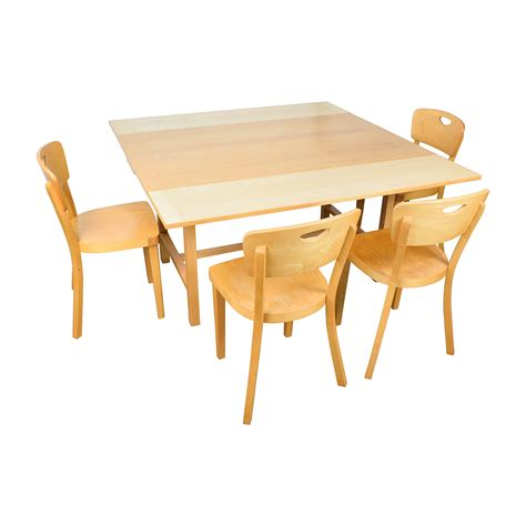 dining tables and chairs ikea 68 off ikea ikea side extendable dining table and four chairs tables