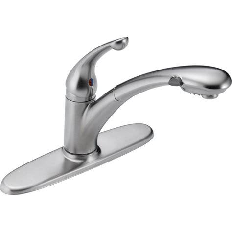 delta kitchen faucet sprayer delta signature single handle pull out sprayer kitchen