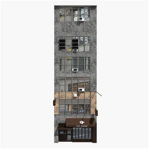 york building facade cgtrader