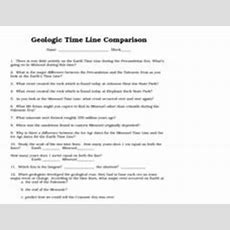 Geological Time Line Comparisonearth And Missouri 8th  10th Grade Worksheet  Lesson Planet