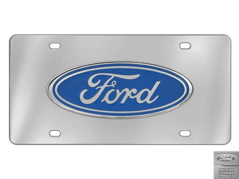Decorative Front License Plate - ford blue standard logo decorative vanity front license